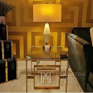 Versace GREEK Glamour-Tapete geometrisches griechisches gold satin muster