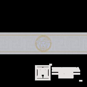 Zierrahmen, Zierleiste für Tapete Versace 5m x13cm weiße Qualle