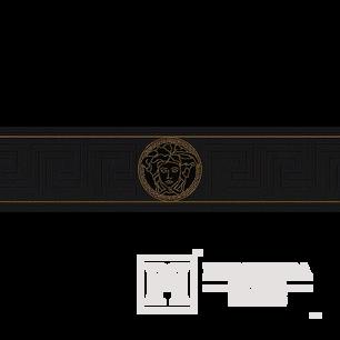 Zierrahmen, Zierleiste für Tapete Versace 5m x 13 cm schwarze Qualle