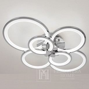 Modern LED ceiling lamp Art Deco Modern Rustic silver for the living room of the bedroom CERICHO