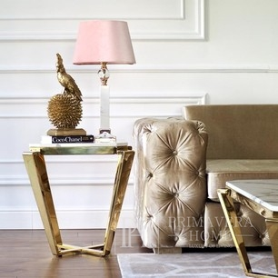 White Marble Top Small Side Table  RALPH