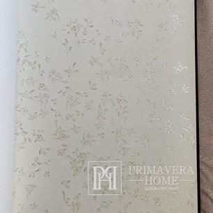 Versace Barocco Flowers Tapete silberweißer Hintergrund