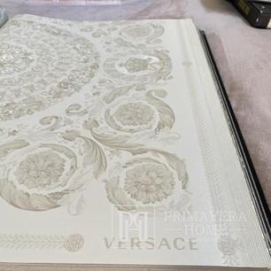 Versace Tapete geometrisch 10,05 x 0,70m Glamour Ecru