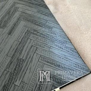 Exklusive Versace geometrische tapete dunkelschwarz grau chevron zickzack