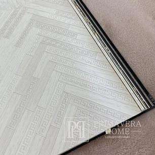 Exklusive geometrische Versace Tapete in grautönen grau fischgrät chevron zickzack
