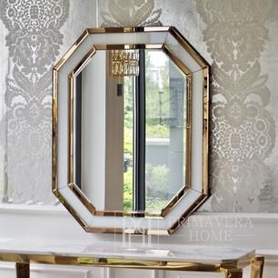 Geometrischer Spiegel SELTENES GOLD WEISS 100x80 gold, weiß OUTLET