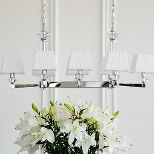 Elegancka stylowa lampa żyrandol lampa wisząca glamour 8 ramion ELEGANZA L SILVER