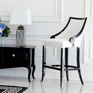 Polsterhocker CARLOTTA Glamour Eiche, schwarz, weiß