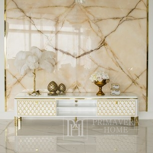 Tv stand ombré GATSBY glamour  200x40,3x49 gold white