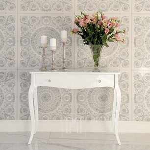Glamor gloss console, ELENA GLAMOR bent legs white