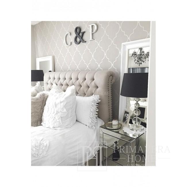 Antoinette Łóżko tapicerowane szare, białe, różne wymiary