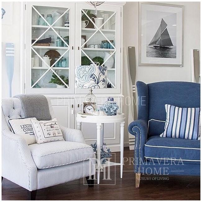 Fotel uszak tapicerowany w stylu angielskim HAMPTONS