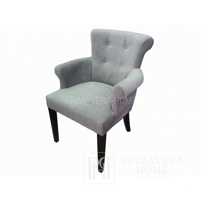 Polstersessel im Glamour-Stil LARGO mit Armlehne und Klopfer 65x45x89