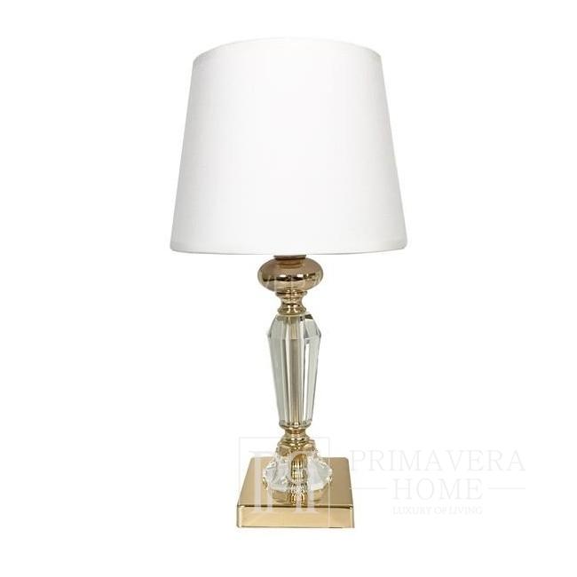 Kristall Tischlampe Glamour S Gold Weiß TRINITY Gold