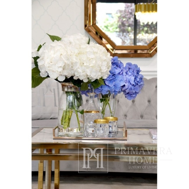 Coffee table in New York style and glamour stainless steel gold marble OSKAR GOLD