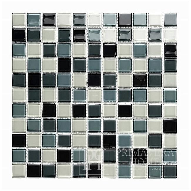 Glass mosaic Grey Roxane Melange High gloss