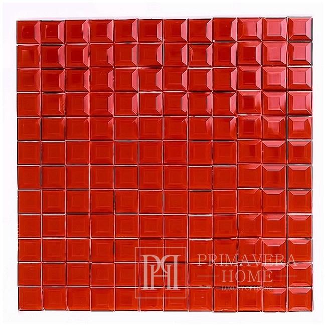 Glass mosaic Diamond RED Helen Jointless