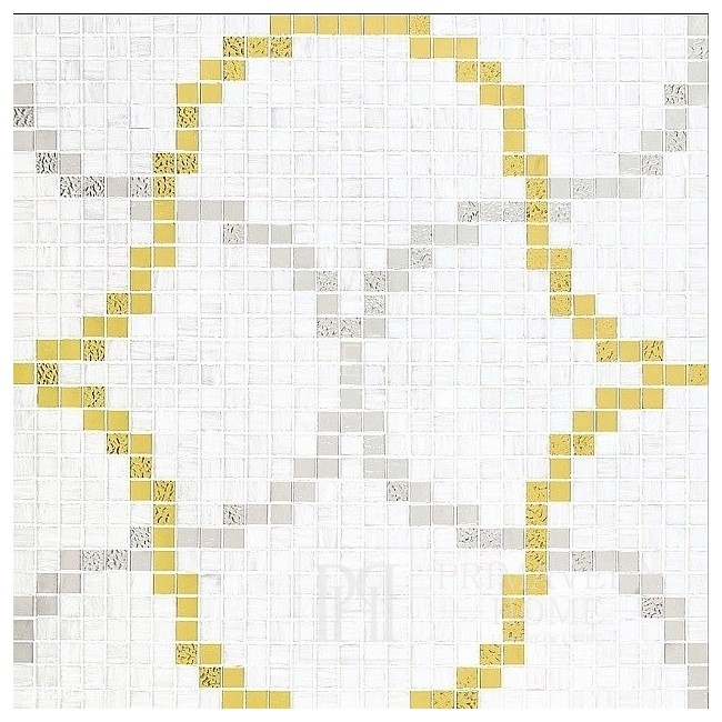 Glass mosaic painting from Liaisons mosaic bronze