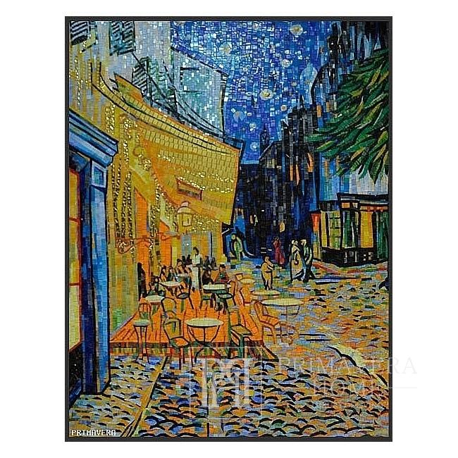Mozaika szklana Van Gogh Taras kawiarni w nocy