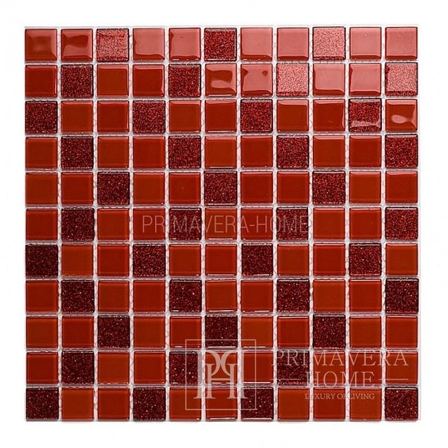 Glasmosaik mit Glitzer RED MIX MARY