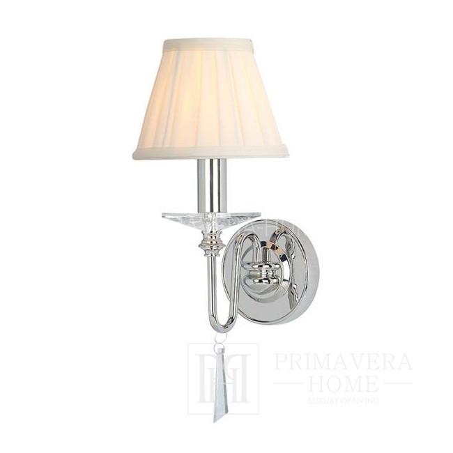 Kinkiet srebrny lampa ścienna - chrom nikiel CARLOTTA