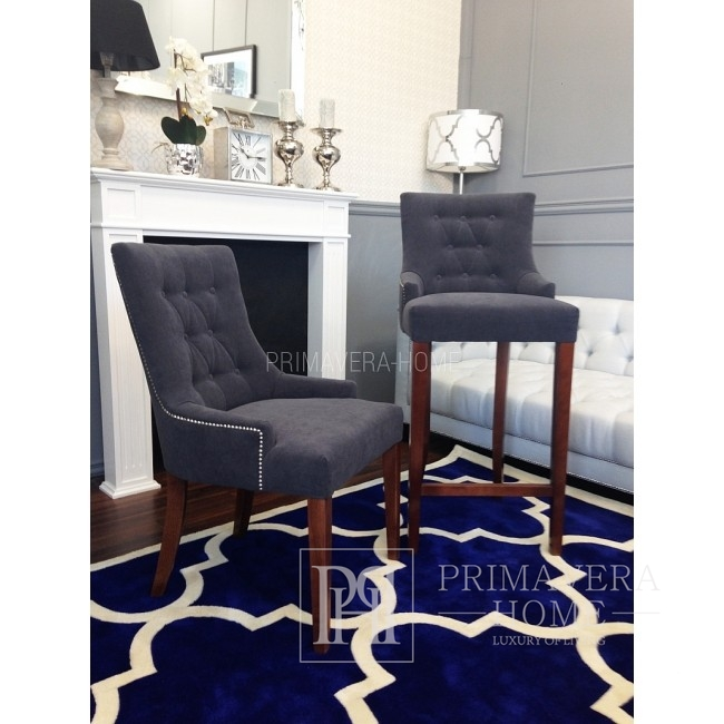 Stool glamour upholstered quilted bar modern dining room TIFFANY