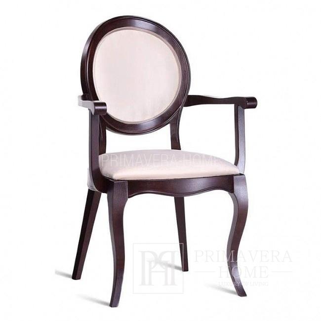 Krzesło drewniane EDVIGE, do jadalni tapicerowane 49x56x98