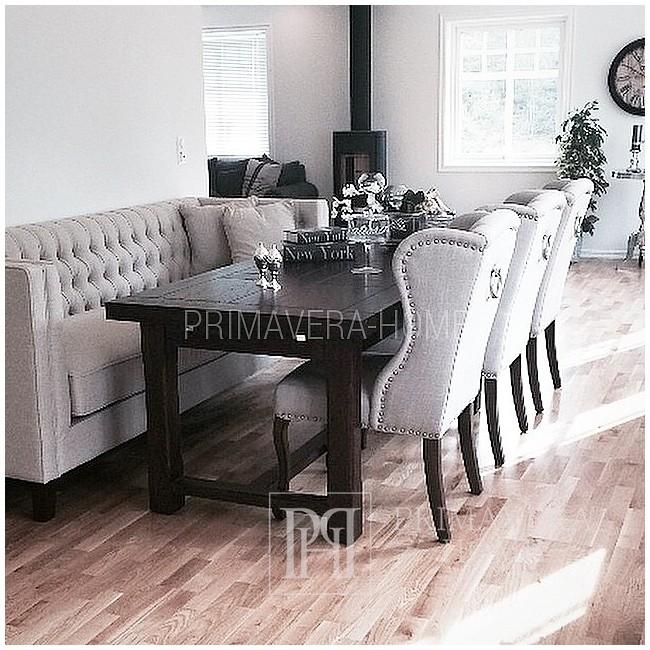 Gepolsterter, gesteppter Stuhl im französischen Stil, Provencal KEITH