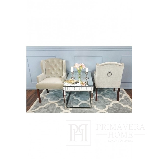 Upholstered chair with quilting and knockout Provencal style KATY