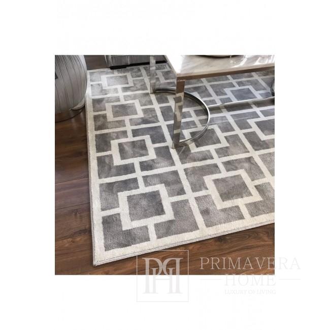 Hilton Grau Weißer Teppich