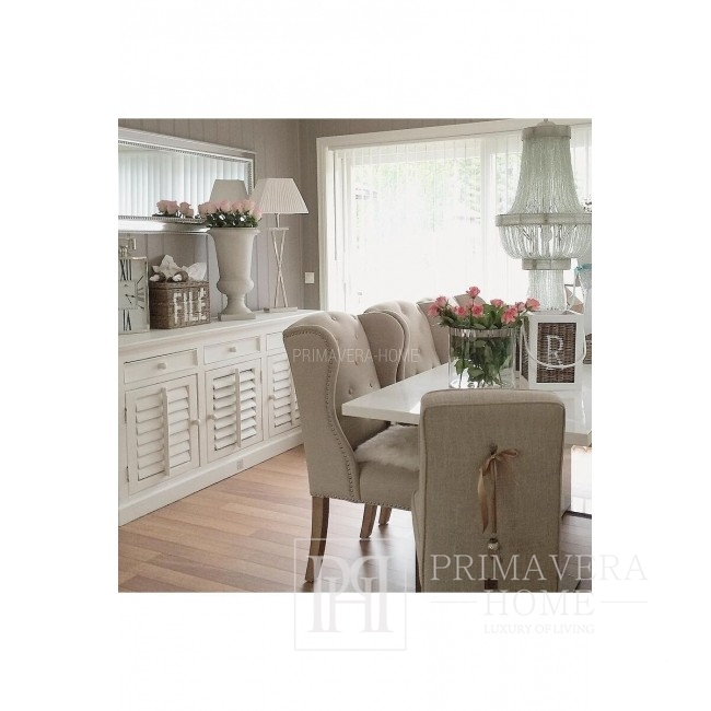 HAMPTONS 10 white TV cabinet in Provencal Hamptons shabby chic style