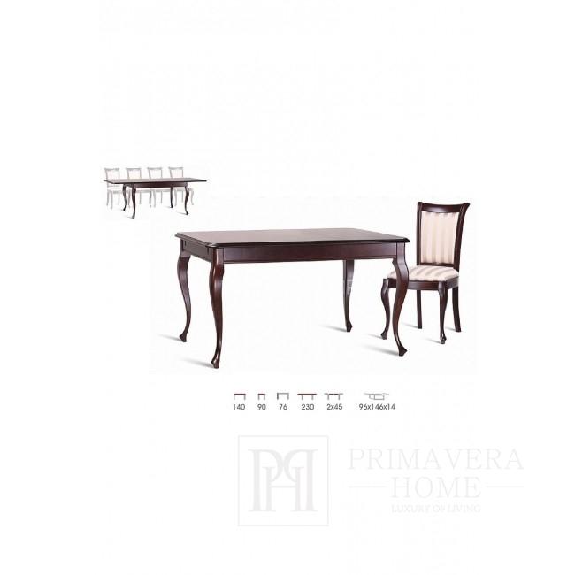Klassischer Holztisch mit Klappfunktion Flora