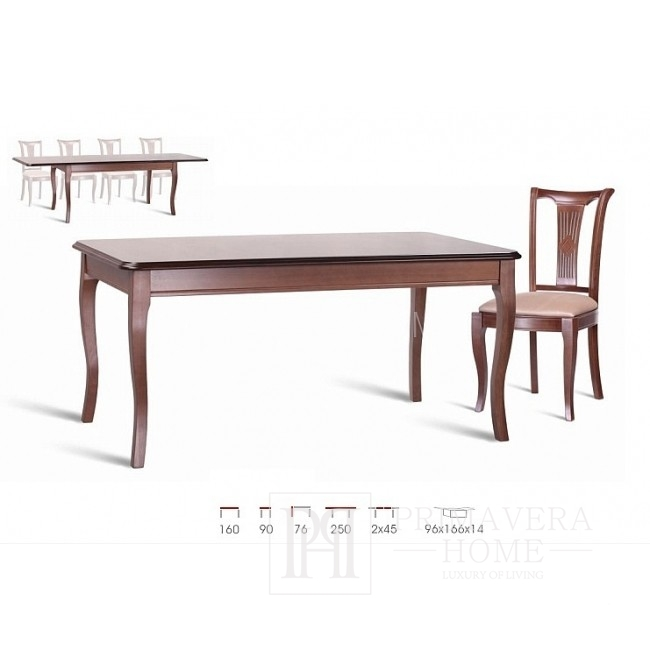 Classic wooden table with folding function Laura
