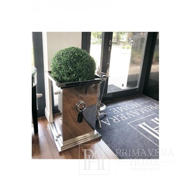 Donica stalowa glamour nowoczesna ROSE 72x50x50 metal
