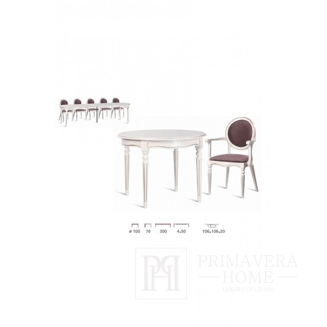 Klassischer Holztisch mit Klappfunktion Isabel