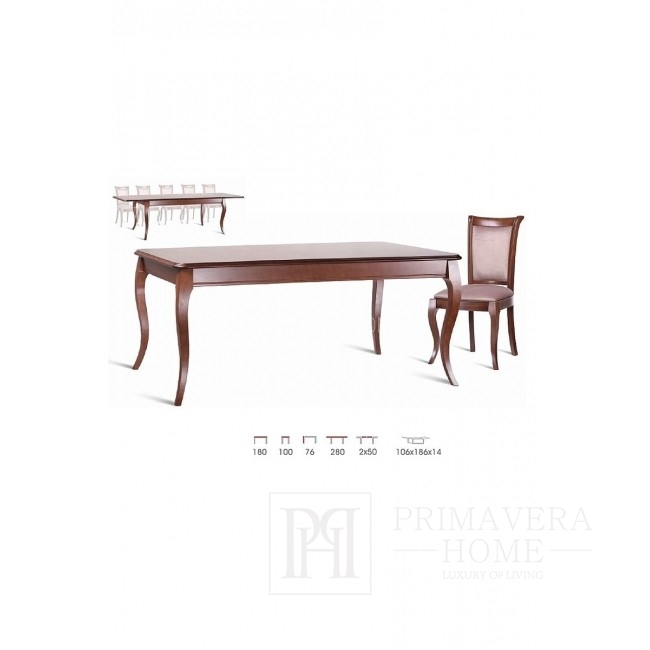 Classic wooden table with folding function Emma