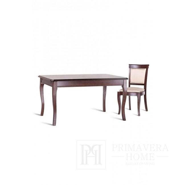 Stół drewniany klasyczny z funkcją rozkładania, lakierowany Leslie