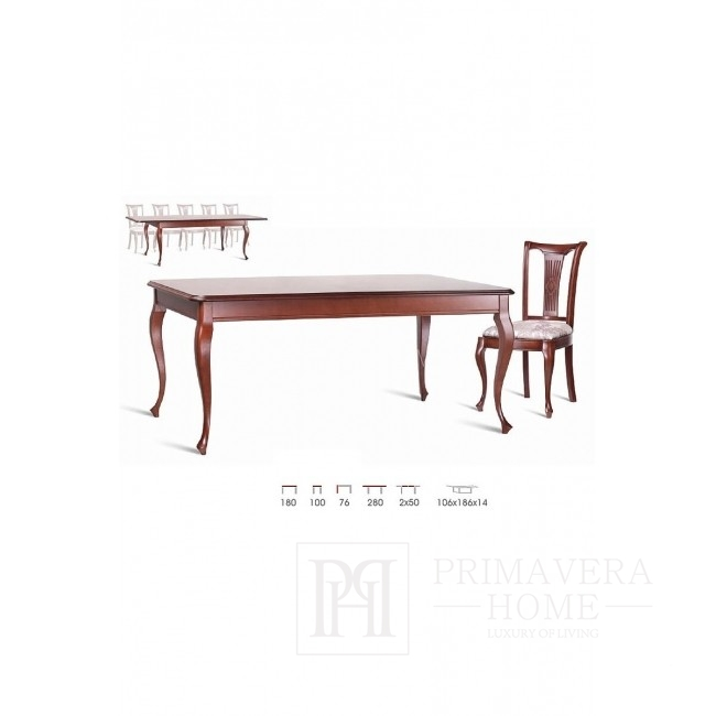 Classic wooden table with Elizabeth folding function