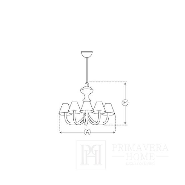 New York Nickel-plated silver hanging lamp ZEPFIR