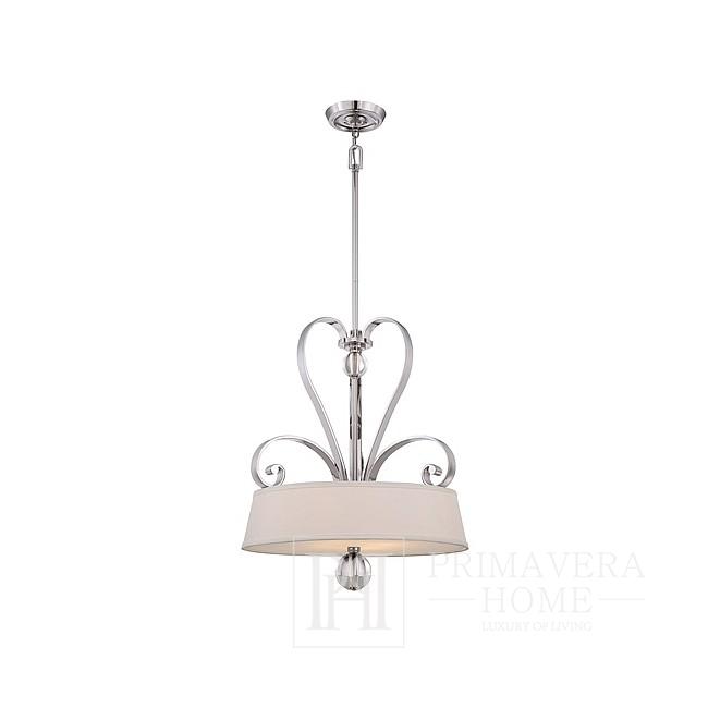 Lampa srebrna wisząca glamour chromowana HAMPTONS