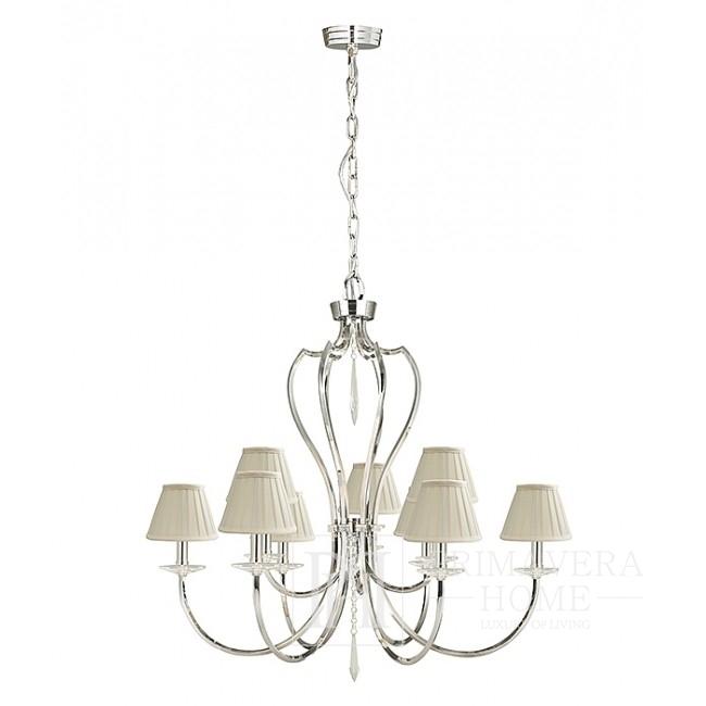 Chrome hanging glamour lamp BOURBON