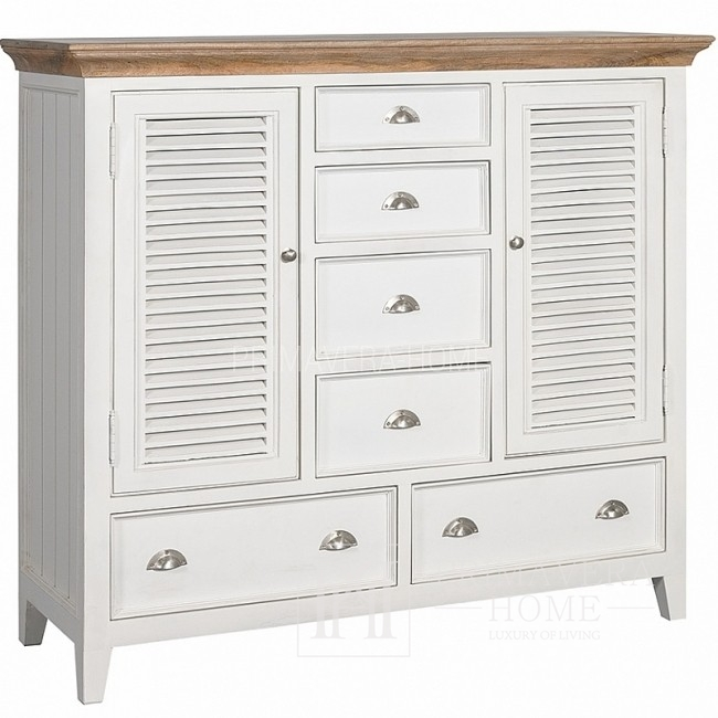 Cabinet with drawers in Hamptons shabby chic style