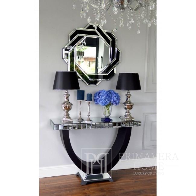 Glamour New York Spiegelkonsole für Schlafzimmer Flur schwarz MICHELLE