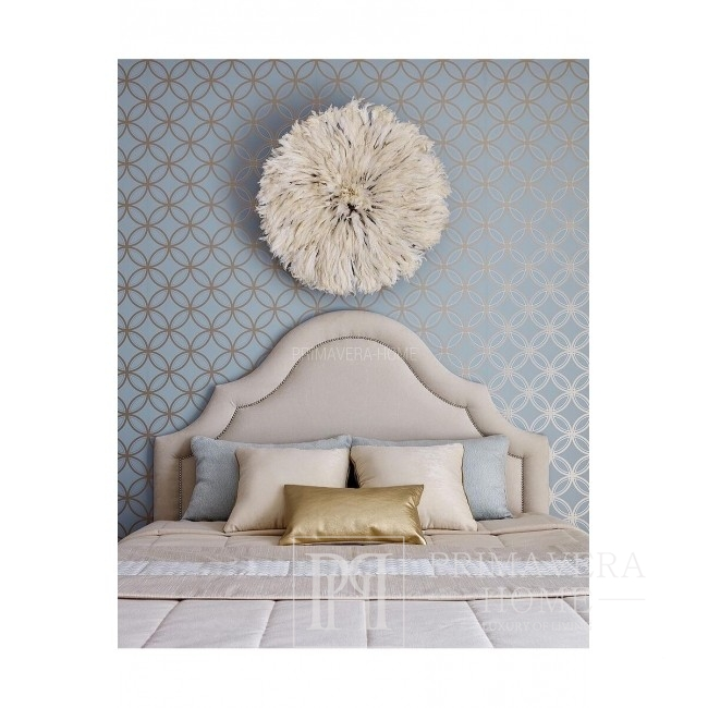 GEOMETRIC RESOURCE New York style geometric wallpaper for bedroom English American WHITE BACKGROUND GOLDEN SILVER