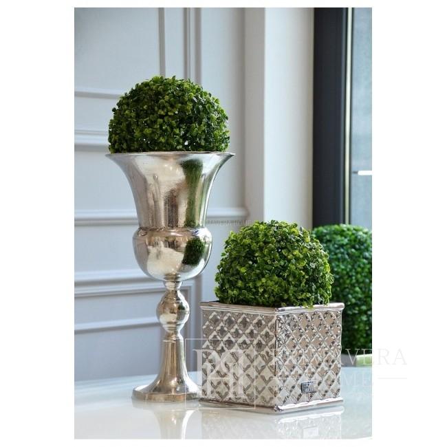 Doniczka ceramiczna srebrna Lene Bjerre