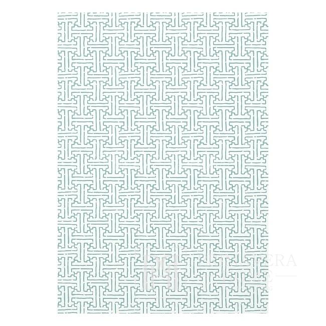 GRAPHIC RESOURCE Tapeta geometryczna w stylu nowojorskim angielskim amerykańskim BIAŁA KREMOWA NIEBIESKA ZIELONA CZERWONA BRĄZOWA