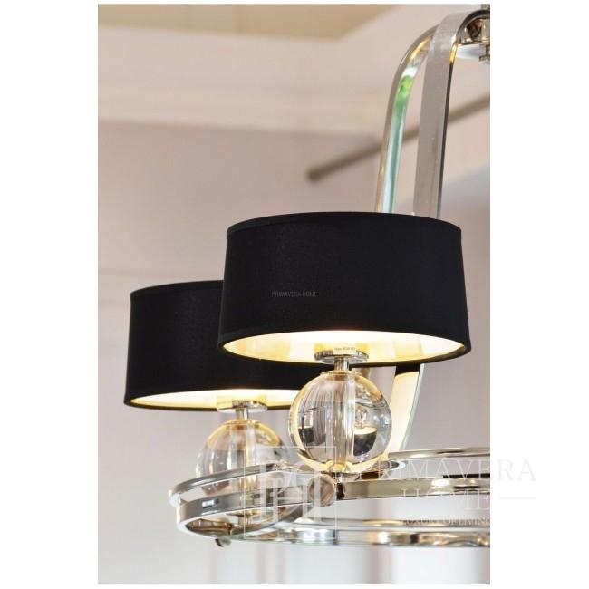 Glamour, silver, black BOISE hanging lamp