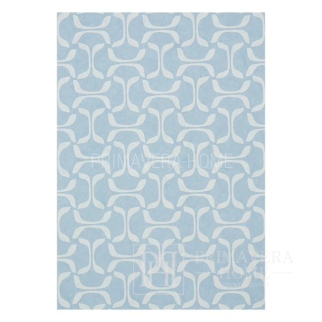 GRAPHIC RESOURCE Geometric wallpaper in New York style American style American WHITE CREME BLUE Brown