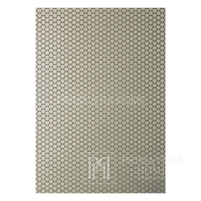 GEOMETRIC RESOURCE New York style geometric wallpaper American style New York style American style WHITE CREME Brown Rose