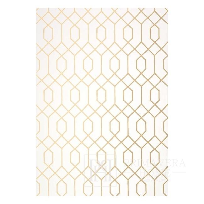 GRAPHIC RESOURCE New Yorker Stil Geometrische Tapete Amerikanischer Stil GRÜN GELB GEBUNDEN
